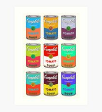 Andy Warhol Campbell's soup cans Art Print