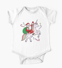 Santa Riding a Unicorn Kids Clothes