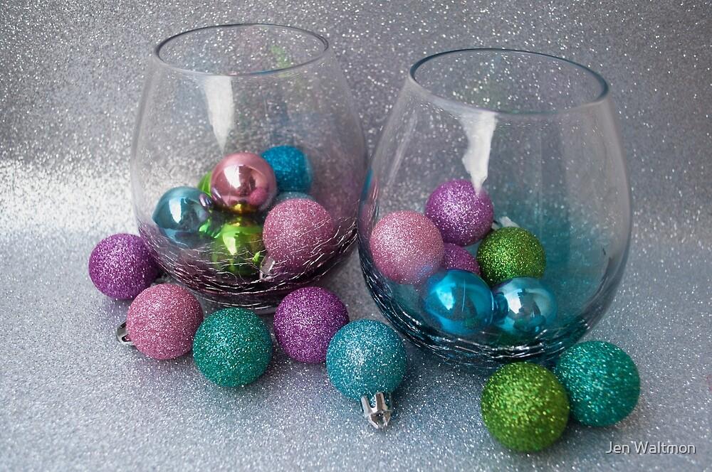 Christmas 2017 Wine Baubles by Jen Waltmon