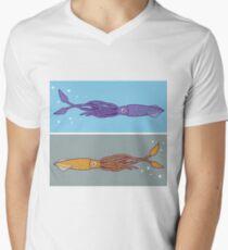 Squid vector art Men's V-Neck T-Shirt
