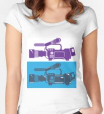 Video Camera Women's Fitted Scoop T-Shirt