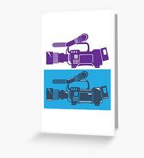 Video Camera Greeting Card