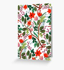 Christmas Floral Pattern Greeting Card