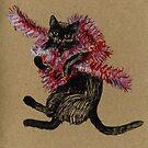 Cat <3 Tinsel by Vicky Webb