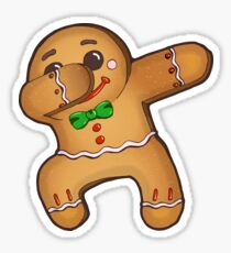 Dabbing Gingerbread Man Sticker