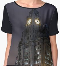 Liver Building and guard Chiffon Top