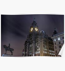 Liver Building and guard Poster