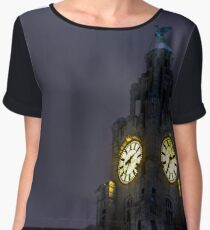 Top of the Liver Building tower Chiffon Top