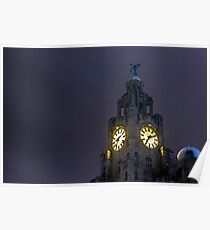 Top of the Liver Building tower Poster