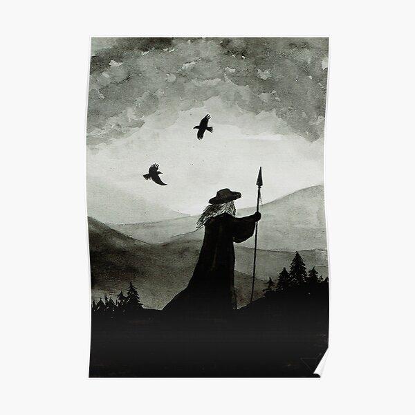 Odin, Huginn et Muninn. Poster