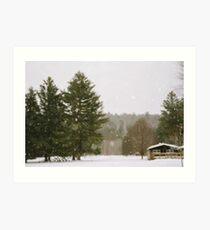 Green Mountain Winter Art Print