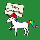 Happy Christmas Unicorn by jezkemp