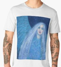 """Metelitsa"", Snow Maiden, Snegurochka, fantasy art, winter &  New Year Men's Premium T-Shirt"