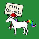 Merry Christmas Unicorn by jezkemp