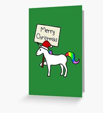 Merry Christmas Unicorn Greeting Card