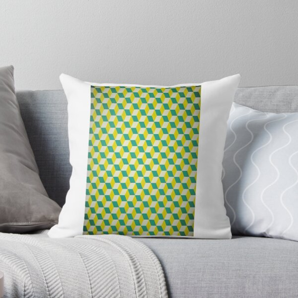 Cubism Number Six by M.A Throw Pillow
