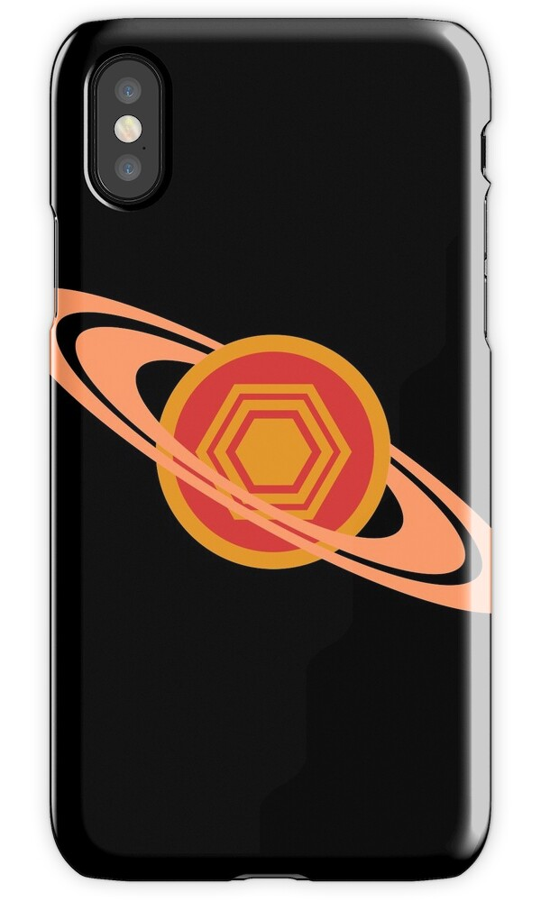 saturn 39 s hexagon iphone cases skins by jezkemp redbubble. Black Bedroom Furniture Sets. Home Design Ideas