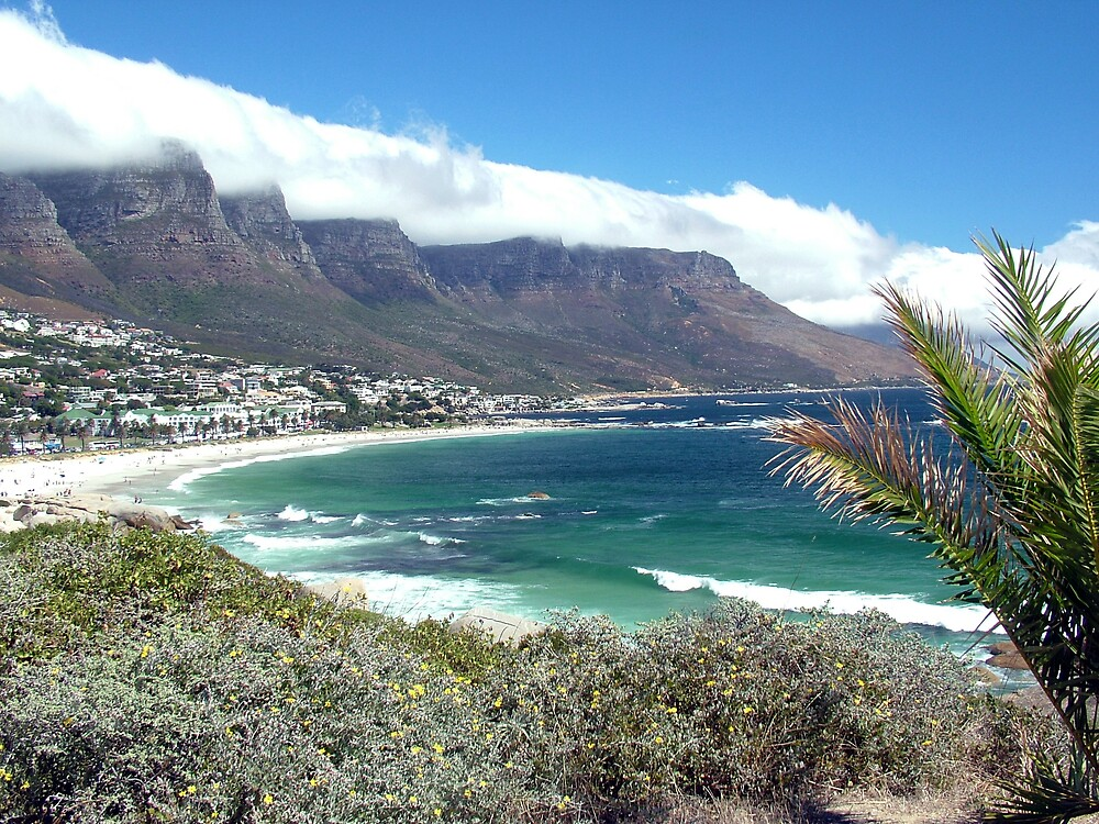 Camps Bay and the Twelve Apostles by Angus Russell