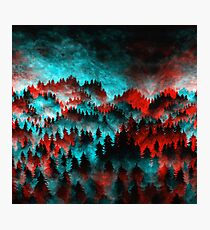 Trippy Forest V6 Photographic Print