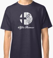 Alfa Romeo & logo (white) Classic T-Shirt
