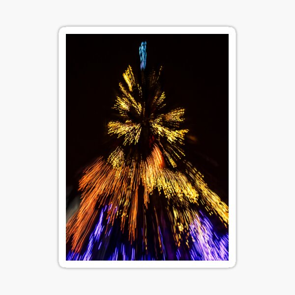 Abstract Christmas lights background at night Sticker