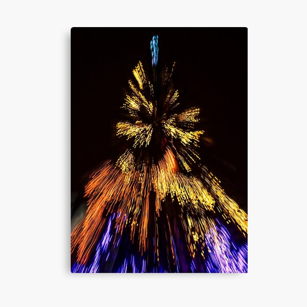 Abstract Christmas lights background at night Canvas Print