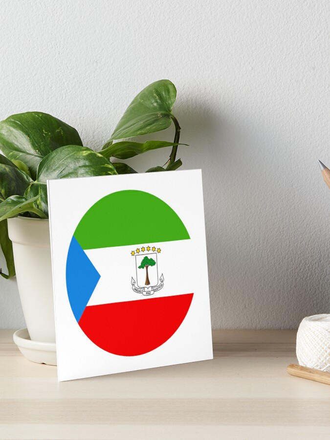 Equatorial Guinea Equatorial Guinea Guinea Ecuatorial Art Board Print By All Flags Redbubble