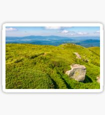 hills of mountain ridge with huge boulders Sticker