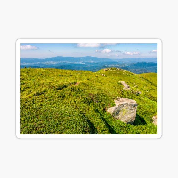 hills of mountain ridge with huge boulders Sticker