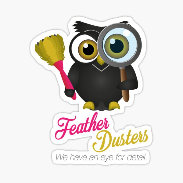 Feather Dusters Logo Sticker