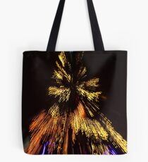Abstract Christmas lights background at night Tote Bag