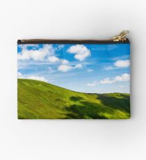 green alps under blue sky Studio Pouch