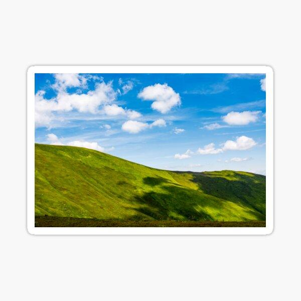 green alps under blue sky Sticker