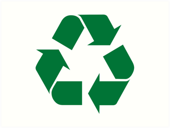 Recycle Symbol Sticker Decal For Recycling Bin And Earth Day Art