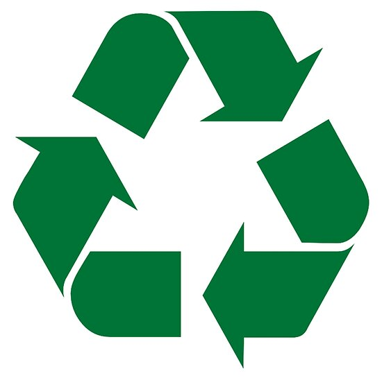 Recycle symbol sticker decal for recycling bin and earth day by merkraht