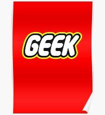Lego Geek Poster