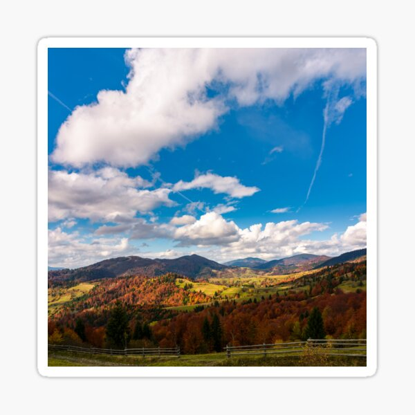 gorgeous cloudscape over the mountains Sticker