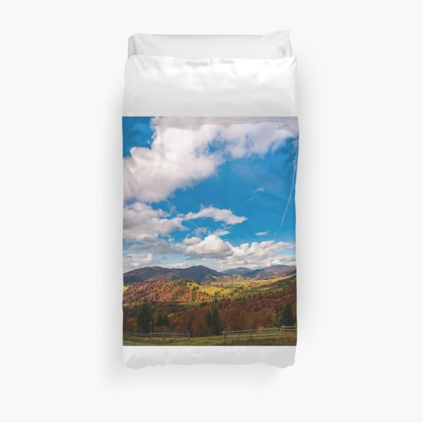 gorgeous cloudscape over the mountains Duvet Cover