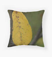 Odd Shaped Leaf Throw Pillow
