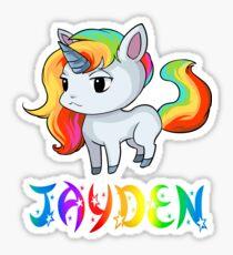 Jayden Unicorn Sticker Sticker