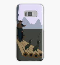Fishing with Cormorants Samsung Galaxy Case/Skin