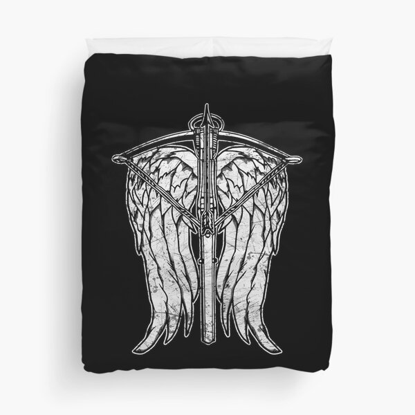 Angel Wings and Crossbow (Dirty) Duvet Cover