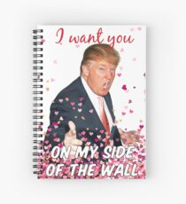 Trump Valentines Day Spiral Notebook