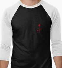 DM Violator Rose style small breast logo Men's Baseball ¾ T-Shirt