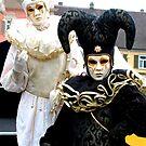 Black & White Jesters by VeniceCarnival