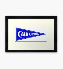 1940 California Luggage Label Framed Print