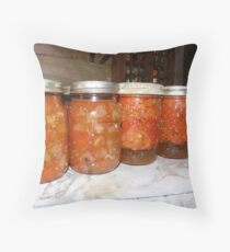 Quarts of Stewed Tomatoes Throw Pillow