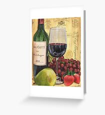 Red Wine and Pear Greeting Card