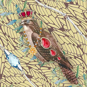 Wallpaper pattern design Bling Birds 3 Edouard Artus by EdouardArtus