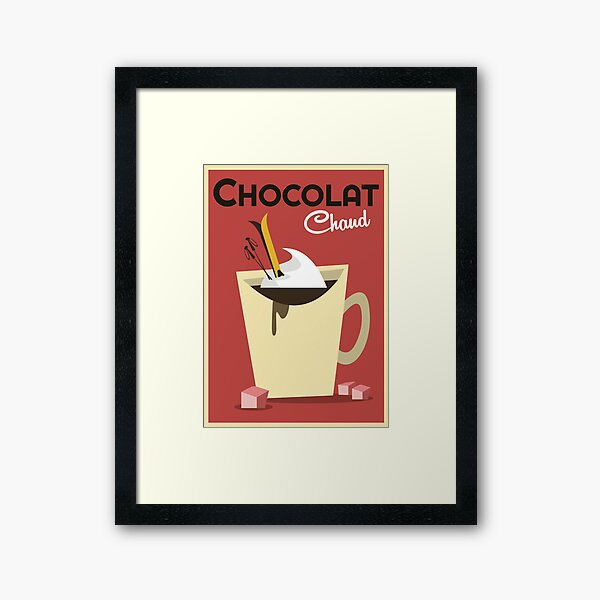 Chocolat Chaud poster Framed Art Print